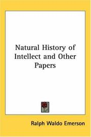 Cover of: Natural History of Intellect and Other Papers