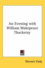Cover of: An Evening With William Makepeace Thackeray