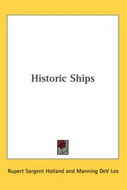 Cover of: Historic Ships