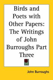 Cover of: Birds And Poets With Other Papers | John Burroughs