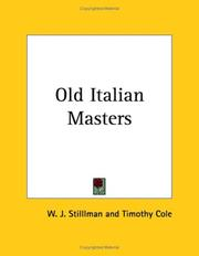 Cover of: Old Italian Masters