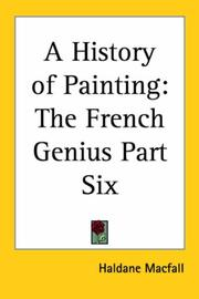 Cover of: A History Of Painting | Haldane Macfall