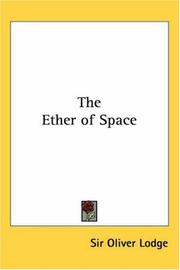 Cover of: The Ether of Space