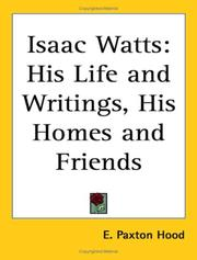 Cover of: Isaac Watts