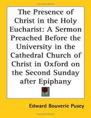 Cover of: The Presence of Christ in the Holy Eucharist