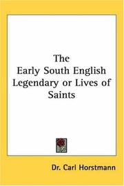 Cover of: The Early South English Legendary or Lives of Saints