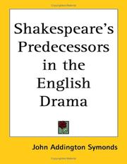 Cover of: Shakespeare's Predecessors in the English Drama
