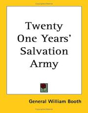 Cover of: Twenty One Years' Salvation Army