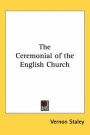 Cover of: The Ceremonial of the English Church | Vernon Staley