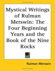 Cover of: Mystical Writings of Rulman Merswin | Rulman Merswin
