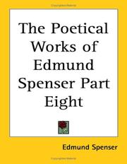 Cover of: The Poetical Works of Edmund Spenser Part Eight