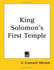 Cover of: King Solomon's First Temple