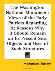 Cover of: The Washington National Monument