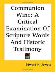 Cover of: Communion Wine