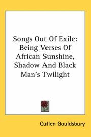 Cover of: Songs Out of Exile | Cullen Gouldsbury