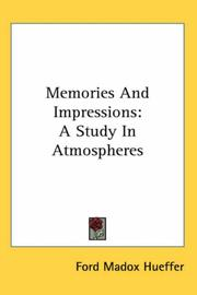Cover of: Memories and impressions