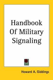 Cover of: Handbook of Military Signaling