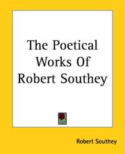 Cover of: The Poetical Works Of Robert Southey