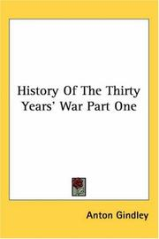 Cover of: History of the Thirty Years' War