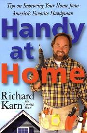 Cover of: Handy at home by