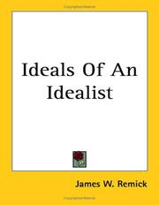 Cover of: Ideals of an Idealist