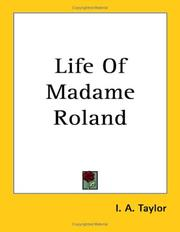 Cover of: Life Of Madame Roland
