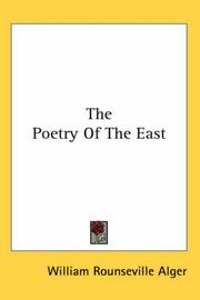 Cover of: The Poetry Of The East
