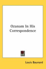 Cover of: Ozanam In His Correspondence