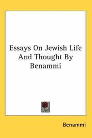 Cover of: Essays On Jewish Life And Thought By Benammi