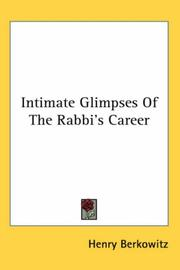 Cover of: Intimate Glimpses of the Rabbi