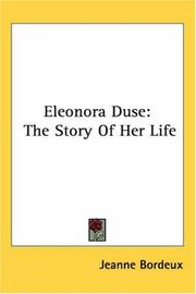 Cover of: Eleonora Duse