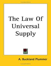 Cover of: The Law of Universal Supply