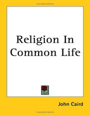 Cover of: Religion in common life