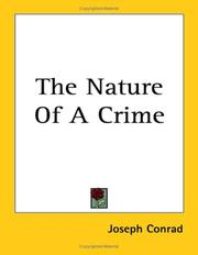 Cover of: The nature of a crime