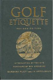 Cover of: Golf etiquette | Barbara Puett