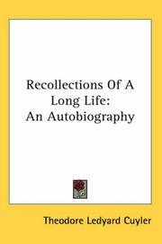 Cover of: Recollections of a Long Life | Theodore Ledyard Cuyler