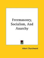 Cover of: Freemasonry, Socialism, and Anarchy
