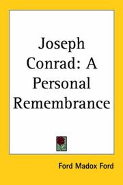 Cover of: Joseph Conrad