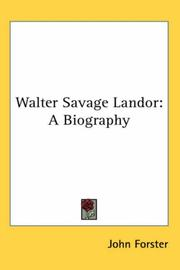 Cover of: Walter Savage Landor | John Forster