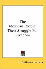 Cover of: The Mexican People