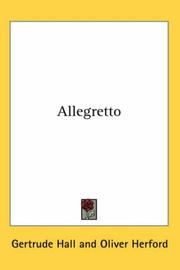 Cover of: Allegretto