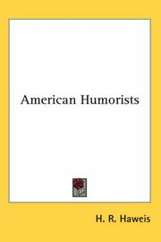 Cover of: American humorists