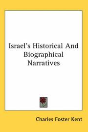 Cover of: Israel's Historical and Biographical Narratives