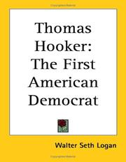 Cover of: Thomas Hooker