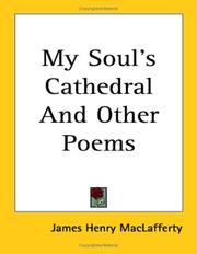 Cover of: My Soul's Cathedral And Other Poems