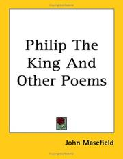 Cover of: Philip, the king, and other poems