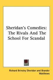 Cover of: Sheridan's comedies