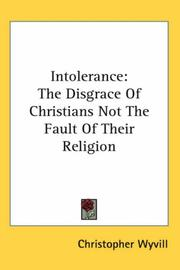 Cover of: Intolerance | Christopher Wyvill