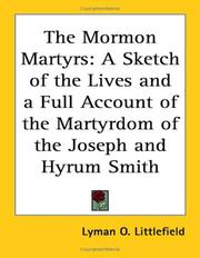 Cover of: The Mormon Martyrs