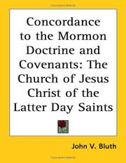 Cover of: A Concordance to the Mormon Doctrine and Covenants